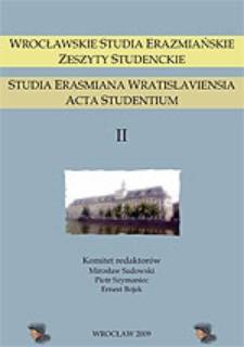 Wrocławskie Studia Erazmiańskie. Zeszyty Studenckie - Słowo wstępne
