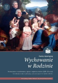Founding a Family in Czech Society in the First Half of the 19th Century